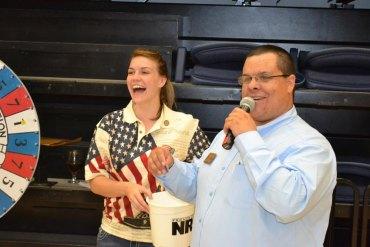 Local NRA Representative Paul Rodarmel was on hand for Saturday night's event.
