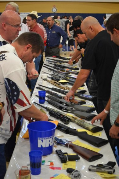 Over 500 persons attended Saturday night's Friends of Lemoore NRA event in the West Hills Golden Eagle Arena.