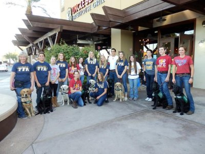 In 2014 the Lemoore FFA turned over eight puppies to a group of Las Cruces, New Mexico FFA students to raise as guide dogs for the blind.
