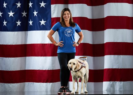Danelle Umstead and Aziza in training for the Paralympics.