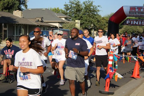 About 100 runners showed up in Lemoore City Park for the 5 K Firecracker Run.