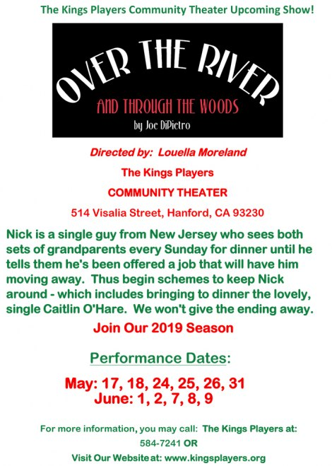 Kings Players upcoming show 'Over the River and Through the Woods' begins May 17