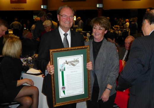 Lemoore's newest member of the Citizen of the Year club and wife Paulette .
