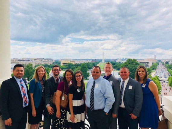 A Lemoore Elementary School District contingent of teachers and administrators visited Washington D.C. recently for a National Schools to Watch conference.