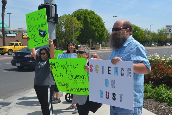 "Several Kings County residents joined the world-wide 'March for Science"" held Saturday in Hanford."