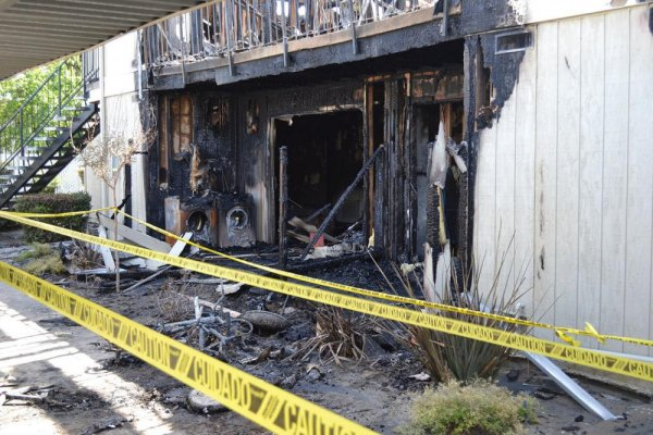 An unexpected fire destroyed 16 units in the Tanglewood Apartments on Hanford Armona Road Sunday morning.