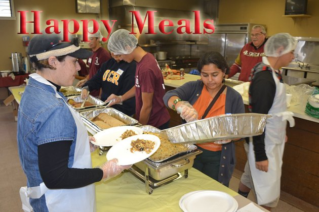 Local volunteers feed 400 at Senior Citizens Center, prepare 800 takeout meals and deliver 400 turkey dinners at 14th annual Community Thanksgiving Dinner