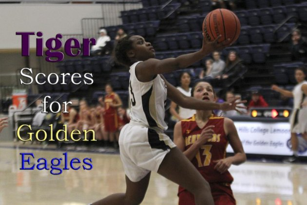 Former Lemoore High School star Kiesha Loftin scored 12 points in Friday night's victory in the Golden Eagle Classic.