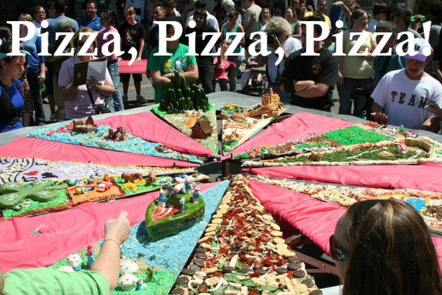 One of the highlights of the annual Central Valley Pizza Festival is the giant pizza.