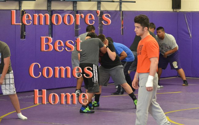 Lemoore's latest national champion Isaiah Martinez returns home and gives back