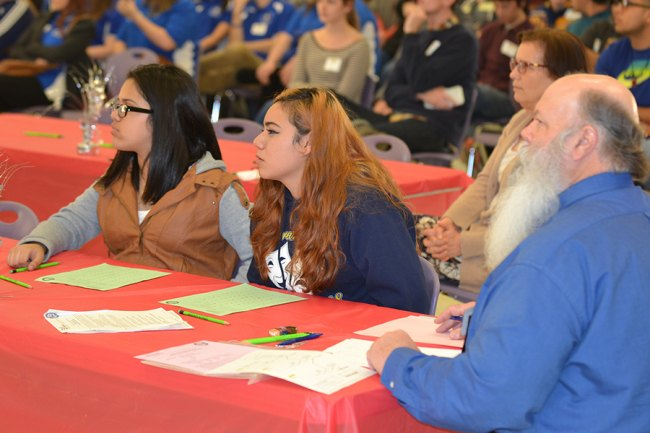 Kings County Supervisor Joe Neves served as a judge during the Academic Decathlon's culminating event, the Super Quiz.
