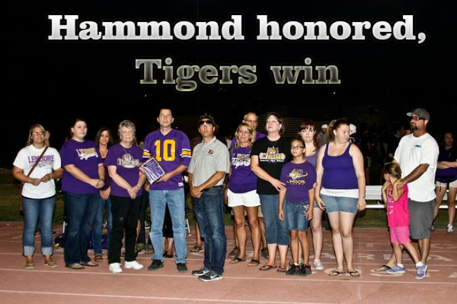 A special night in Tiger Stadium: School honors Hammond and football team wins
